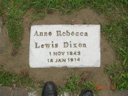 Ann Rebecca <i>Lewis</i> Dixon