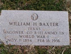 William H Baxter