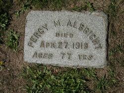 Percy M <i>Lane</i> Albright