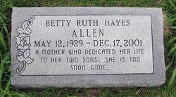 Betty Ruth <i>Hayes</i> Allen