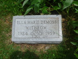 Ella Marie <i>DeMoss</i> Withrow