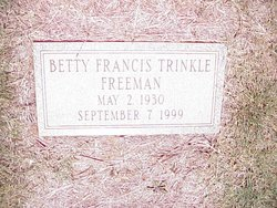 Betty Shelor <i>Francis</i> Trinkle Freeman