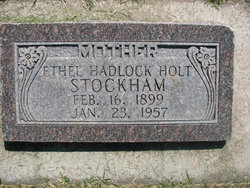 Ethel Maranda <i>Hadlock</i> Stockham