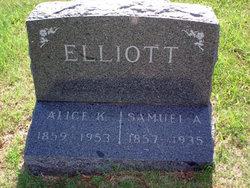 Alice Catherine Kate <i>O'Bannon</i> Elliott