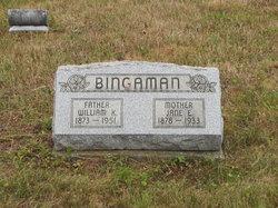 Jane E Bingaman