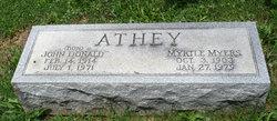 Myrtle <i>Myers</i> Athey