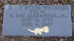 Betty Rook Betty <i>Welborn</i> Alexander