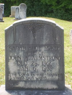 Sarah Alice Sallie <i>McKee</i> Armstrong