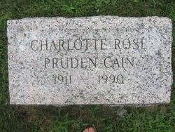 Charlotte Rose <i>Pruden</i> Cain