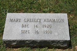 Mary <i>Greeley</i> Adamson
