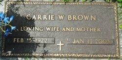 Carrie W. <i>Rooks</i> Brown