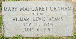 Mary Margaret <i>Graham</i> Adams
