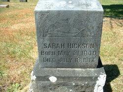 Sarah Cathrine <i>Ray</i> Hickson
