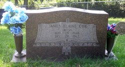 Corp James Blaine Bud Cox