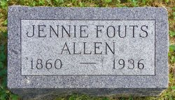Jennie <i>Fouts</i> Allen