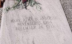 Mary Alma <i>Brunson</i> Anderson