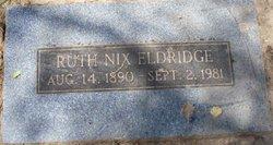Ruth <i>Nix</i> Eldridge