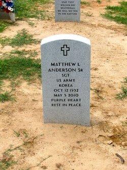 Sgt Matthew L Anderson, Sr