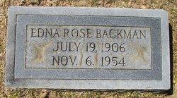 Lily Edna <i>Rose</i> Backman