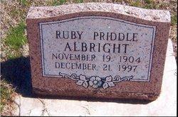 Ruby <i>Priddle</i> Albright