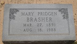 Mary <i>Pridgen</i> Brasher
