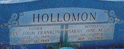 Rev John Franklin Hollomon