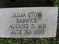 Julia Elizabeth <i>Crow</i> Barwick
