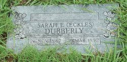 Sarah E. <i>Eckles</i> Dubberly