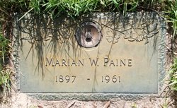 Marian S <i>White</i> Paine