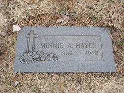 Minnie A Hayes