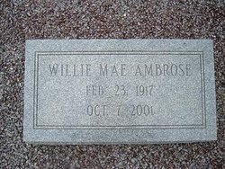 Willie Mae <i>Hendricks</i> Ambrose