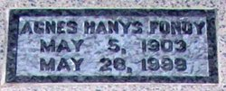Agnes <i>Hanys</i> Fondy