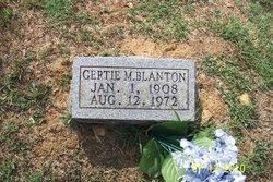 Gertie M <i>Clubb</i> Blanton