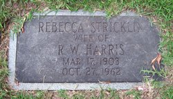 Rebecca Jane <i>Stricklin</i> Harris