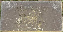 Cecil <i>Waddy</i> Weakley
