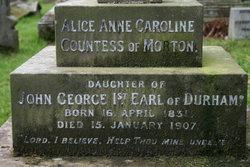 Alice Anne Caroline <i>Lambton</i> Douglas