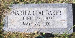 Martha Opal <i>Barber</i> Baker