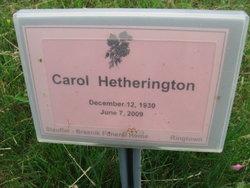 Carol <i>Laudeman</i> Hetherington