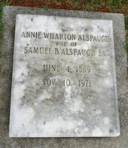 Annie <i>Wharton</i> Alspaugh