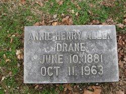 Annie Henry <i>Allen</i> Drane