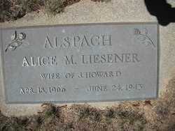 Alice Martha <i>Liesener</i> Alspach