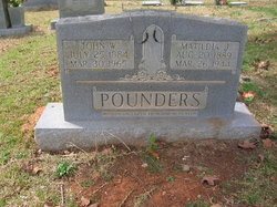Matildia Jean <i>Posey</i> Pounders