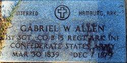 Sgt Gabriel W Allen