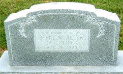 Myrl F. <i>Ward</i> Allen