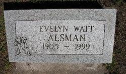 Evelyn <i>Watt</i> Alsman