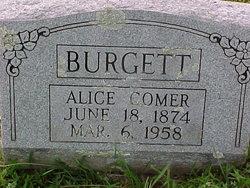 Alice <i>Comer</i> Burgett