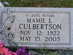 Mamie Lee <i>Davis</i> Culbertson