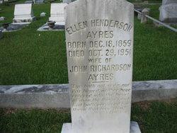 Ellen Nellie <i>Henderson</i> Ayres