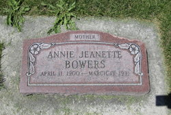 Annie Jeanette <i>Schow</i> Bowers