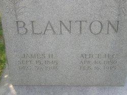 Alice Helen <i>Cornelius</i> Blanton
